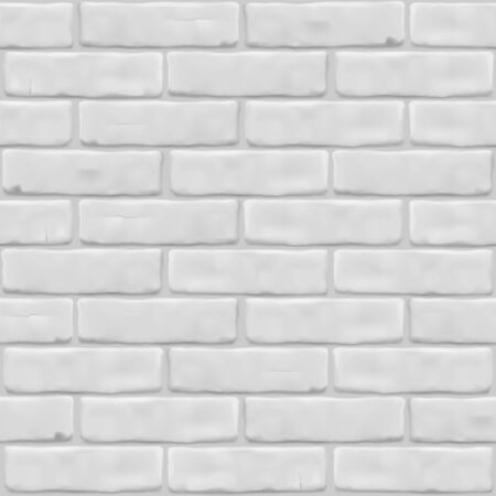 Texture white brick wall for exterior, interior, website, background, graphic design. Vector illustration. Seamless pattern. Photorealistic close up. Vectores