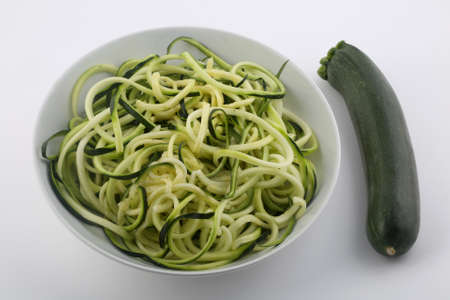 zucchini spaguetti as vegan detox healthy receipt