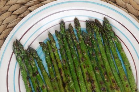 grilled asparagus as ingredient for vegan food Reklamní fotografie