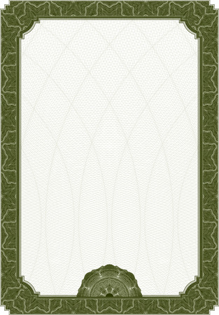bond: Diploma certificate template with complex guilloche elements