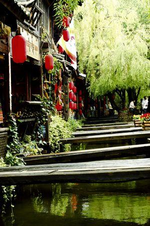 yunnan: Chinas ancient town of Lijiang, Yunnan bridges people, Raise the Red Lantern