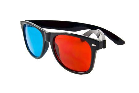 plastic 3D glasses over white Stock Photo - 6353777