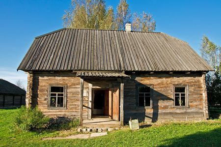 an old traditional belarusian school in the countryside photo