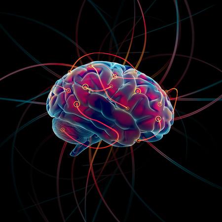 Proces myślenia koncepcji mózgu