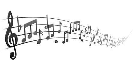 pentagrama musical: notas en el pentagrama musical remolino