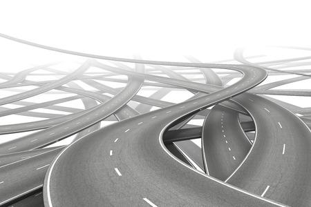 Plusieurs routes vides symbolisant choix Banque d'images - 41324940