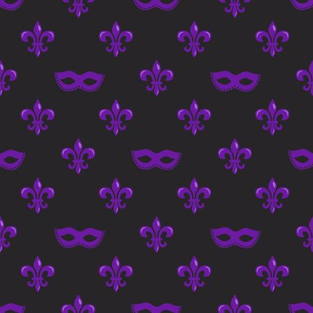 Fleur-de-lis and masks. Perfect for wrapping paper, fabric or greetings cards.