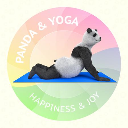 girdle: panda practicing asana yoga Illustration