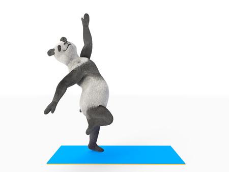 pas: dancing pas step by animal dancer panda