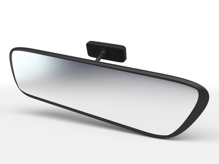 rearview: rear view mirror isolated on white background. Car Rearview Mirror side view