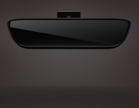 rear view mirror: car rearview mirror isolated ob dark background
