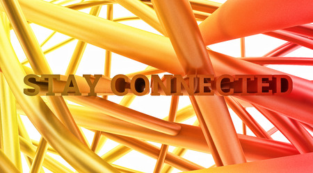 linkage: abstract cobweb tissue display-letters phrase stay connected close-up