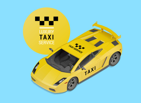 power projection: taxi car luxury business elite service. isometric sports automobile vector drawing design element. high speed cab auto illustration.