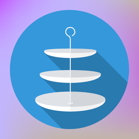 tiers: three tier vase plates flat. Three Tiered Serving Tray. three-tiered bowl Illustration