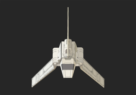 spacecraft: spaceship isometric flat 3d illustration.  Futuristic  spacecraft Illustration