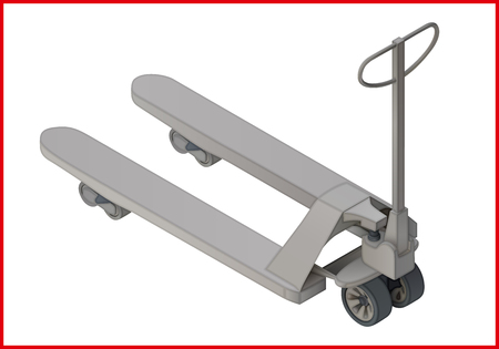 sacktruck: Trolley platform cart isometric perspective view flat vector 3d illustration. Sacktruck pictogram.