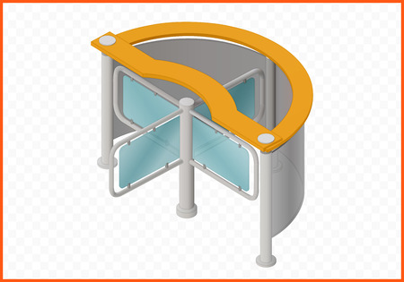 wicket gate: turnstile isometric perspective view flat 3d illustration Illustration