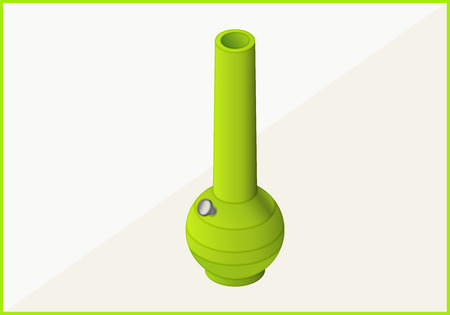 bong: bong for smoking weed isometric flat 3d illustration