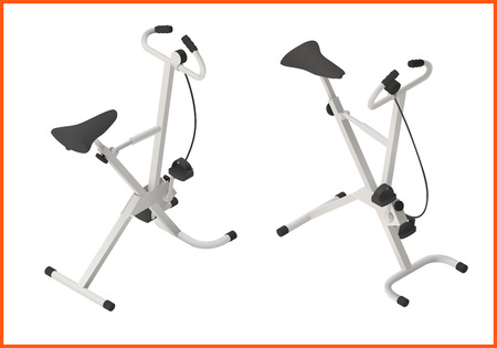static bike: exercise bike gym isometric