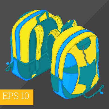 satchel: school backpack eps10 vector illustration. satchel schoolbag