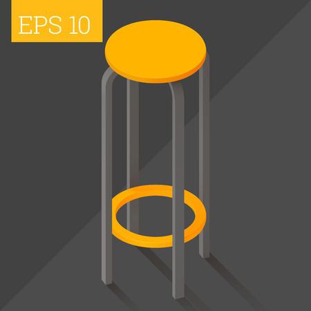 stool: bar chair stool eps10 vector illustration. barstool