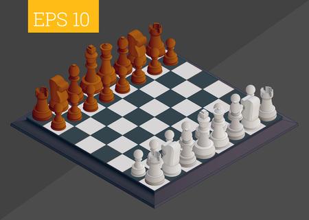 tablero de ajedrez: eps10 ilustración vectorial tablero de ajedrez. tablero de juego de ajedrez Vectores