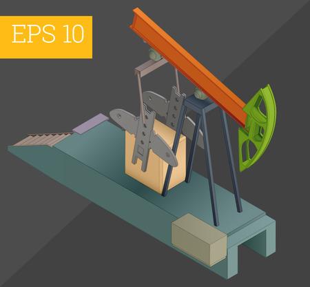 oil rocker eps10 vector illustration Illustration