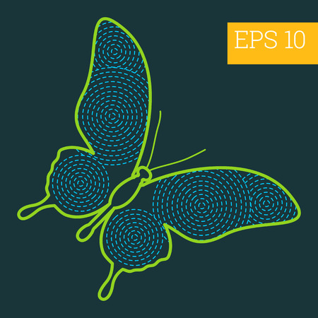 milkweed: butterfly linear vector illustration. insect outline icon.