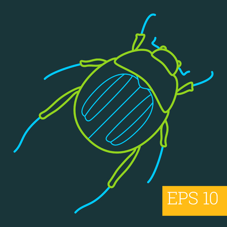 parasitic infestation: mite linear vector illustration. insect outline icon.