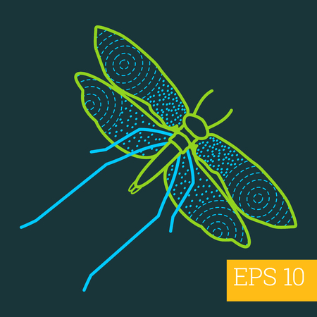 moth: moth linear vector illustration. insect outline icon.