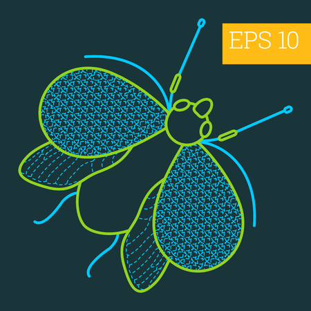 hexapoda: cerambycidae linear vector illustration. insect outline icon. Illustration