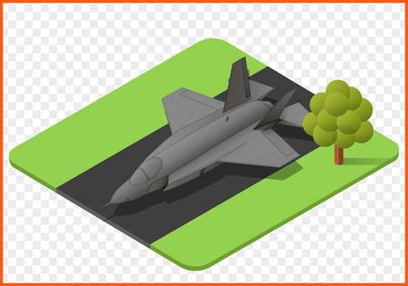 軍用機飛行機等尺性分離ベクトル eps イラスト。戦闘機飛行機 3 d  イラスト・ベクター素材