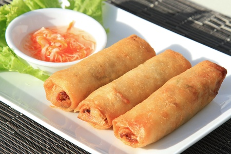 international food: Fried spring roll