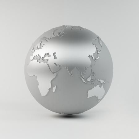 Chroom Earth Stockfoto - 21238152
