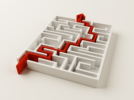 Solved Maze puzzle Imagens - 21238317