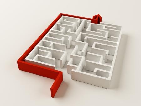 Solved Maze puzzle photo
