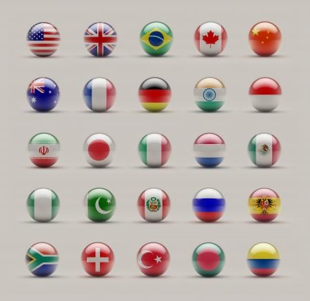 bandera de colombia: Banderas Esfera