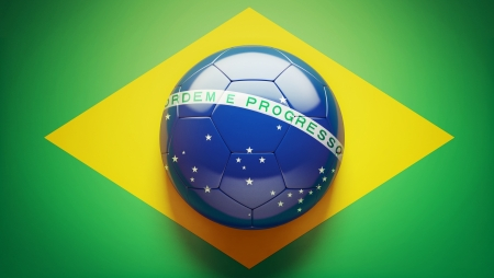 Brazilian Flag Soccer Ball Imagens - 19207033