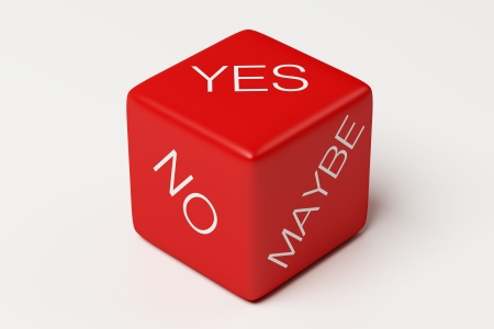 Yes No Maybe Dice Stock Photo - 19552316