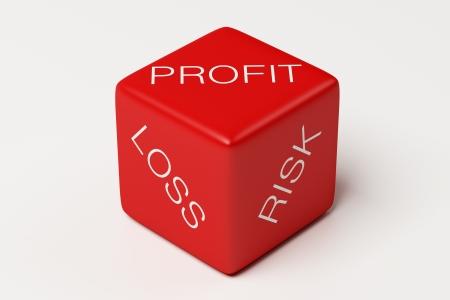 perdidas y ganancias: P�rdida de beneficios dados Riesgo Foto de archivo