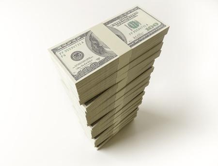 Stack of  100 bills
