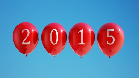 New Year 2015 Balloons with Clipping Path photo