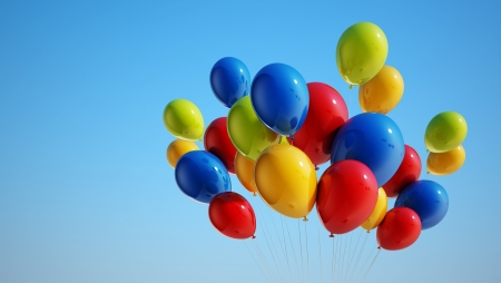 party balloons: Colorful Balloons with Clipping Path