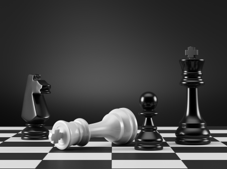 King Checkmate Banque d'images