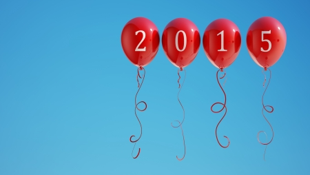 New Year 2015 Balloons photo