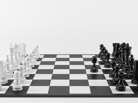 first step: Chess Strategy Der erste Schritt Lizenzfreie Bilder