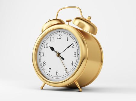 Gold Shiny Clock  Stock Photo