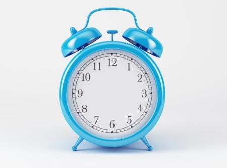 Blue Shiny Clock