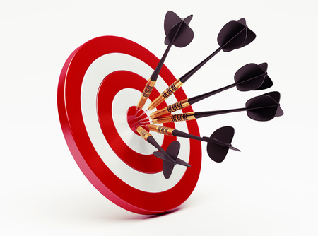 projectile: Darts on red target