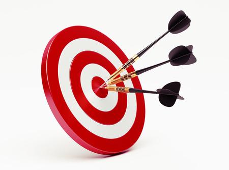 Darts op rood doel